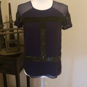 Renzo and Kai Navy blue w/black sequins